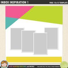 The 571 best free digital scrapbook templates images on pinterest in free digital scrapbooking template inbox inspiration 1 maxwellsz