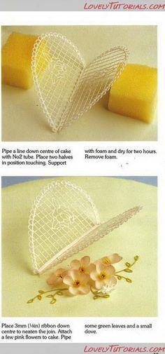 Шаблоны,трафареты для украшения глазурью -royal icing,filigree templates - Мастер-классы по украшению тортов Cake Decorating Tutorials (How To's) Tortas Paso a Paso