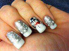 Christmas holiday nail art design
