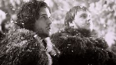Kit Harrington as Jon Snow and John Bradley as Sam Tarly in Game of Thrones