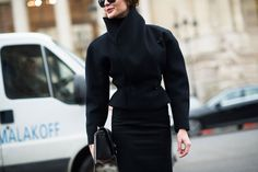 Street Style: From Outside the Spring 2014 Couture Fashion Shows  - Paris Haute Couture Spring 2014: Day 2