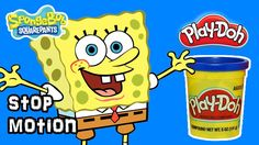 [Play Doh Stop Motion] How to Spongebob Toy Character Clay Animation vid...
