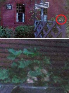 This spooky photo has been the subject of many a debate. Is it paranormal or is it simply the leaves and branches blended with the wall of the building causing a pareidolia effect. What do you think?!