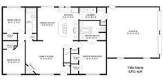 Simple Open Ranch Floor Plans | Style Villa Maria