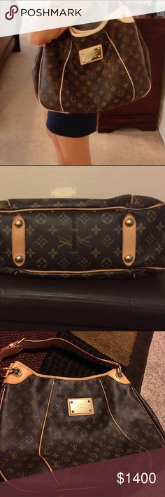 Authentic galleria gm Authentic galleria gm,use only few times,very good condition like new Louis Vuitton Bags Shoulder Bags