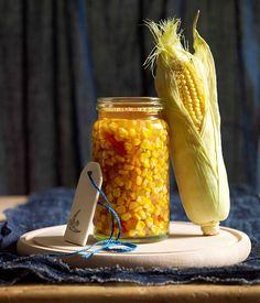 Australian Gourmet Traveller recipe for summer corn relish. Corn Relish, Grilled Prawns, Sliced Ham, Soft Tacos, Good Food, Yummy Food, Picnic Foods, Canning Recipes, Relish Recipes
