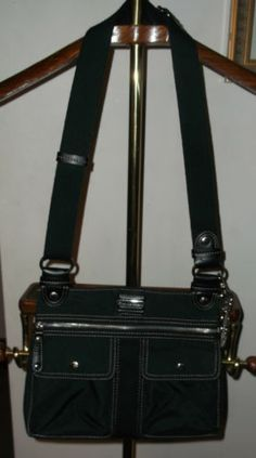 FRANCO SARTO Nylon Black Crossbody Shoulder Bag Crossbody Shoulder Bag eb98a50988579