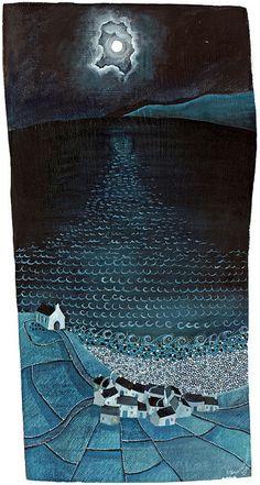 Print by Valeriane Leblond Original Artwork, Original Paintings, All Nature, Naive Art, Art Graphique, Watercolor Paintings, Watercolors, Nature Paintings, Landscape Art