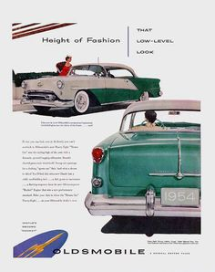 """Height of Fashion, that Low, Level Look!"": 1954 Oldsmobile Brochure"