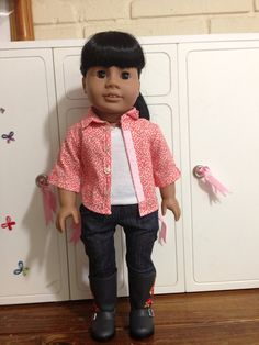 Shirt and camisole for 18 inch dolls by AnicksBoutique on Etsy, $12.00