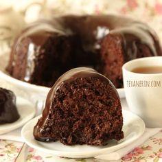 Chocolate Zucchini Cake with Greek Yogurt Honey Chocolate Ganache - 100% whole wheat, super moist and chocolatey! | texanerin.com