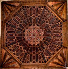 Beautiful wood ceiling, Palacio de Dar Al-Horra' Granada