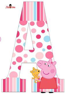 Alfabeto de Peppa Pig con Perrito.