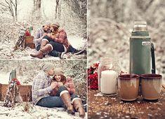 Минипикник в лесу, как идея для зимней love story!