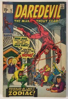 Daredevil #73 - Nick Fury / Iron Man Appearance FN 6.0 Marvel Comics Bronze Age 1971