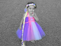 Beautiful Rapunzel Inspired Tutu Dress Costume by Cruzcreation, $40.00