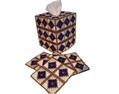 PDF format Primitive Navy Blue Coaster and Tissue by kathybarwick, $3.70