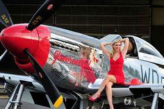 """P-51 Mustang - """"Glamorous Gal""""."""