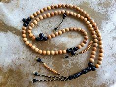 Olive Wood and Ebony Islamic prayer beads w/ West African tassel (misbahah, misbaha, subhah, subha, sibhah, sibha, tasbeeh, tespih) #Sibha #Sebha #Tasbih #Tesbih #Prayer #beads #Rosary #Islam #Sufism #Muslim #islamic #Masbaha #misbahah #misbaha, #subhah #subha #sibhah #tespih