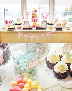 Pink & Paisley Birthday Party Sweets Table #party #partyideskids #birthday