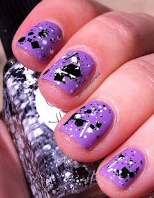 """Lynnderella """"Connect the Dots"""" over OPI """"Do You Lilac It"""". Must get this Lynnderella!"""