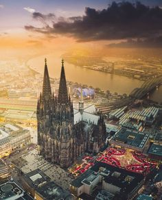 """18.7k Likes, 139 Comments - Living Europe (@living_europe) on Instagram: """"Flying above the town ~ Cologne, Germany Photo: @henry_do Awesome! TAG someone you love  …"""""""