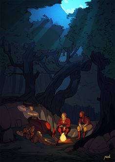 """imrisah:  """"  good times with the dream team camping in the hinterlands  also most laziest coloring ever :D  """""""