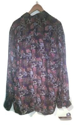 Vinta90s Silk Shirt Mens Shirt Silk 1980s 1990s VINTAGE SHIRT silk Mens Vintage shirt Silk SHirt Button Up Multicolor Longsleeve L XL by VirtageVintage on Etsy