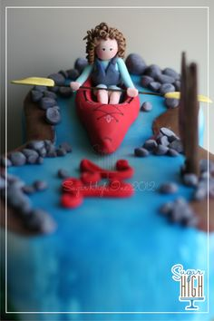 A Kayaking Cake for a 21st Birthday!