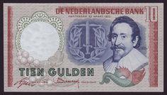 NETHERLANDS - 10 GULDEN,1953 - UNC