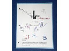The L Word Pilot Episode TV Script Signature Autographs: Jennifer Beals, Katherine Moening, Pam Grier, Laurel Holloman, Mia Kirshner
