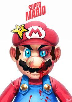 game over. #mario #nintendo #fanart