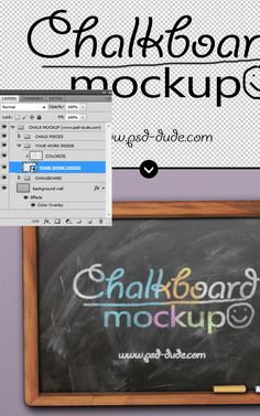 Free Chalk Photoshop Effect and Chalkboard Mockup with Free PSD (8.7 MB) | PSDDude