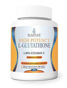 High Potency Liposomal Glutathione Vitamin C 750mg 90Capsules ** Visit the image link more details.