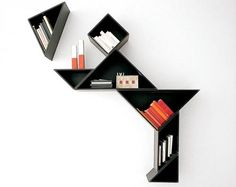 Interesting bookshelf; this would work in a bathroom!