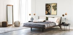 Double bed with upholstered headboard NELSON By Cattelan Italia design Andrea Lucatello Cheap Home Decor, Fall Home Decor, Leather Headboard, Decorating Small Spaces, Home Decor Kitchen, Home Decor Accessories, Contemporary Furniture, Home Remodeling, Bedroom Decor