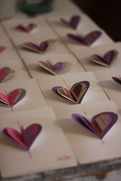 cute sewn heart cards.... super easy... and easy to make a lot of them
