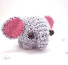 #animais #miniatura #crochê #elefante #elefantinho