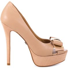Bring high status to everyday with the Conary. Badgley Mischka introduces a beautiful pump covered in beige patent and fabric presented on the 5 inch heel and 1 inch platform. A dainty bow at the vamp is accented with a metal highlight. Shoe Boots, Shoes Heels, Pumps, Shoes Outlet, Natural Leather, Shoe Brands, Designer Shoes, Me Too Shoes, Fashion Shoes