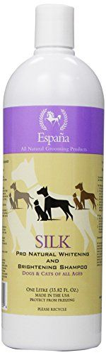Espana Silk ESP0320DC Specially Formulated Silk Pro Whitening and Brightening Shampoo for Dogs and Cats 3382Ounce *** More info could be found at the image url. (This is an affiliate link and I receive a commission for the sales)