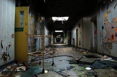 After being taken over by the military during World War II, the asylum slowly declined and finally closed in 1995 after allegations of abuse against patients. Description from matadornetwork.com. I searched for this on bing.com/images