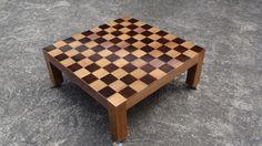 Table basse dame par jojo974 - Une petite table basse dame en bété. Une photo de la table avant mise en teinte des cases. Il ne reste plus que les pions a faire et vernir le tout..