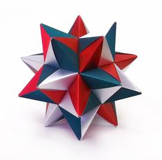 """Pietro Macchi - Modular A  30 модулей 4,5*7,8 см. Итог 9 см.  Без клея. Бумага """"Альт"""" шёлковая.  Диаграмма: Origami USA Convention 2002, с. 179-180"""