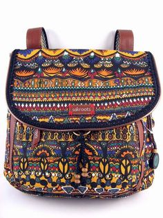 """NWT Sakroots convertible Backpack Crossbody Harvest One World 12""""x13"""" SHIP INT'L #Sakroots #BackpackStyle"""