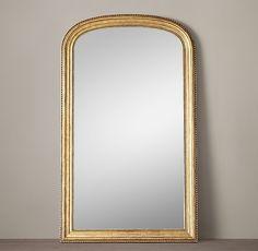 Gilt Arched Leaner Mirror x 90 Leaner Mirror, Mirror Mirror, Wall Mirrors, Closet Mirror, Floor Mirrors, Brass Mirror, Bathroom Mirrors, Mirror Ideas, Neoclassical Design