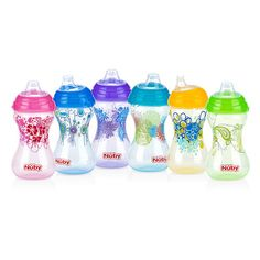 """Nuby No Spill Soft Spout Designer Series 10 Ounce Cup - Colors/Styles may vary - Luv N Care  - Babies""""R""""Us"""