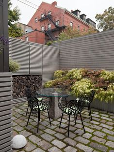 Steel-framed, whitewashed fir walls enclose a vibrant, durable garden | Contemporary Landscape Design