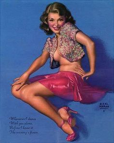 History of Art: Pin-up Art - Earl Moran Earl Moran, Pinup Art, Pin Up Pictures, Pin Up Drawings, Pin Up Girl Vintage, Pin Up Posters, Dance With You, Games For Girls, Pin Up Girls