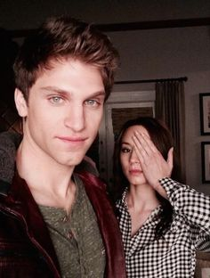 Keegan Allen and Troian Bellisario.