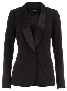 Black satin collar tux blazer! Maybe my bridesmaids could wear this over there dress! Love it